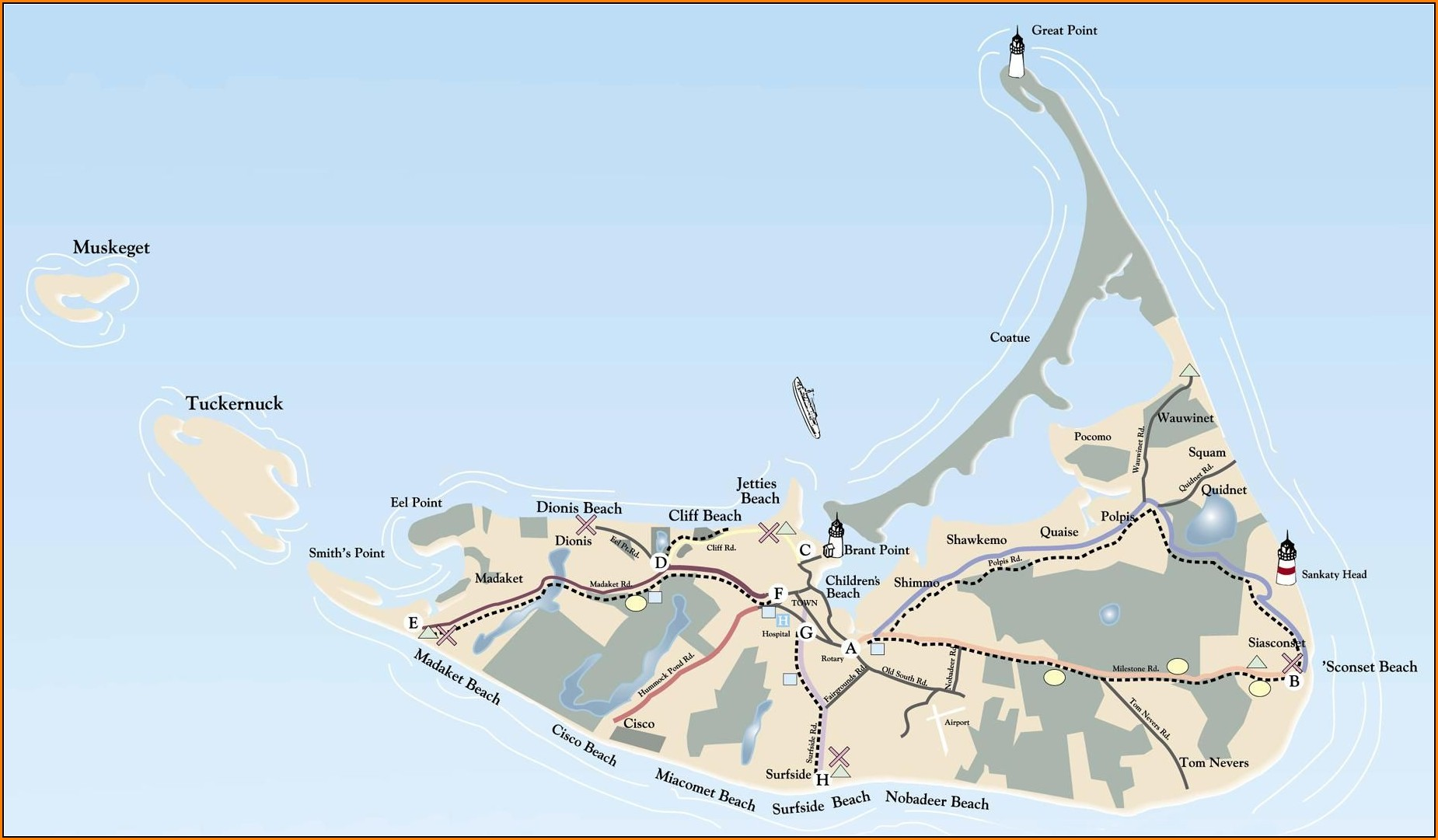 Map Of Nantucket Massachusetts