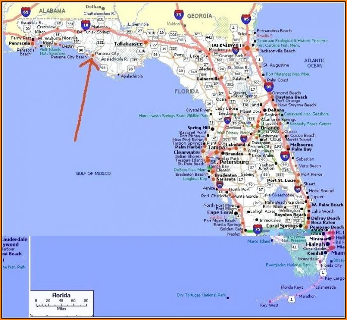 Map Of Panama City Beach Florida Area