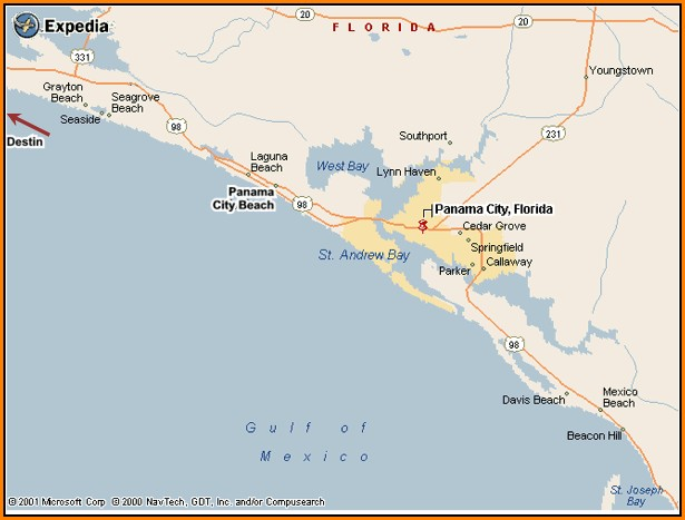 Map Of Panama City Florida And Surrounding Area