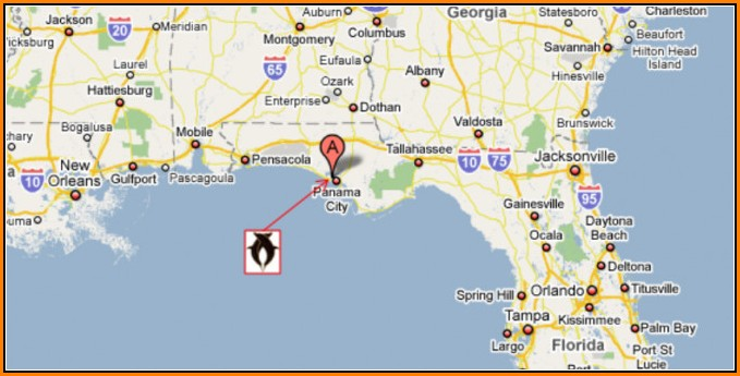 Map Of Panama City Florida And Surrounding Towns
