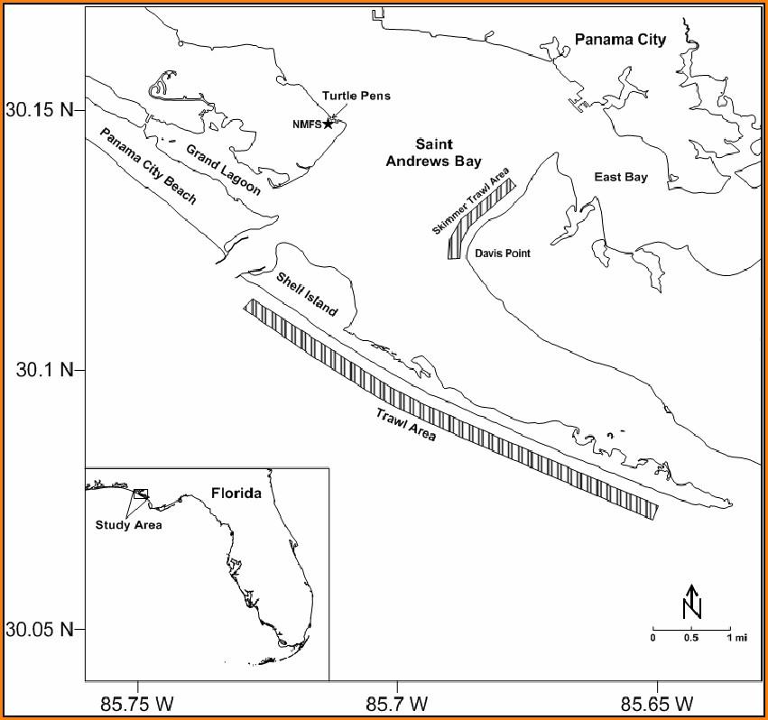 Map Of Panama City Florida Area
