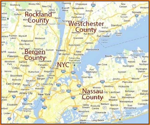 Map Of Westchester County Towns