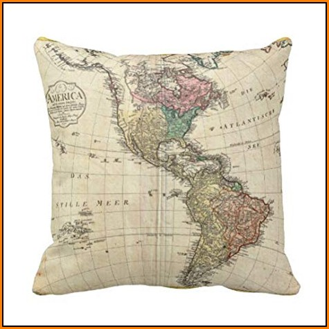 Map Throw Pillows
