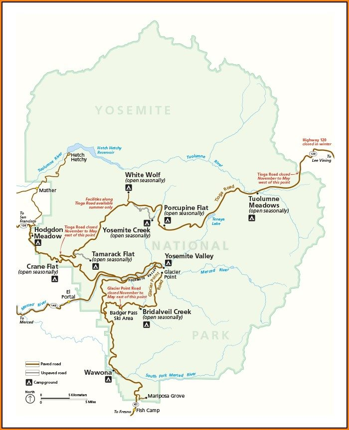 Map Yosemite National Park