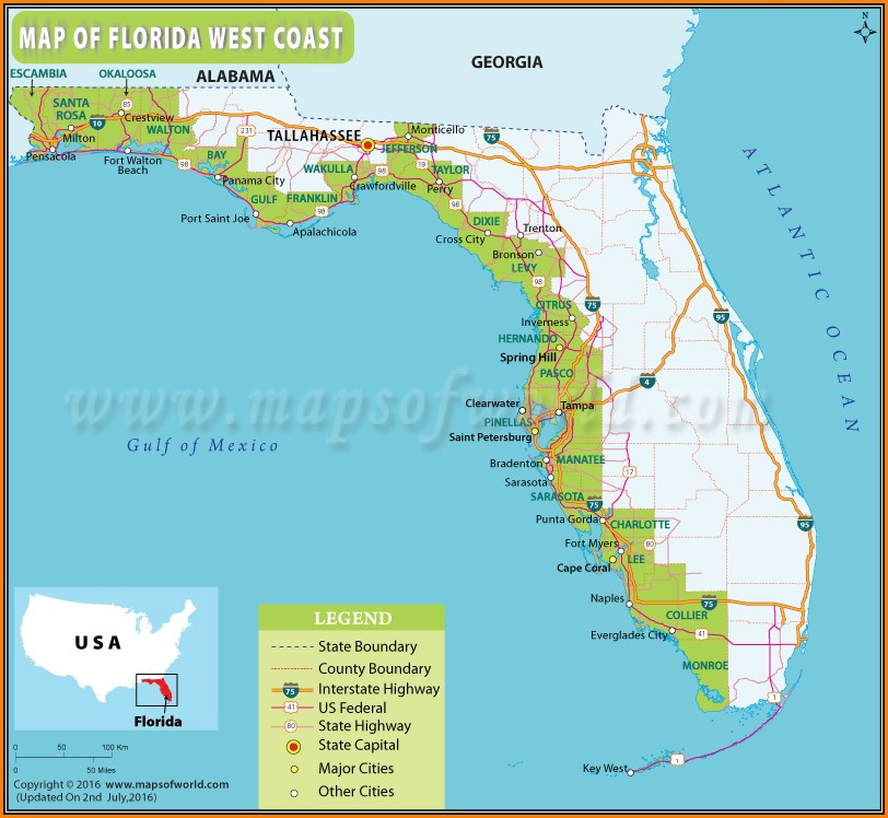 Maps Of Florida Beaches