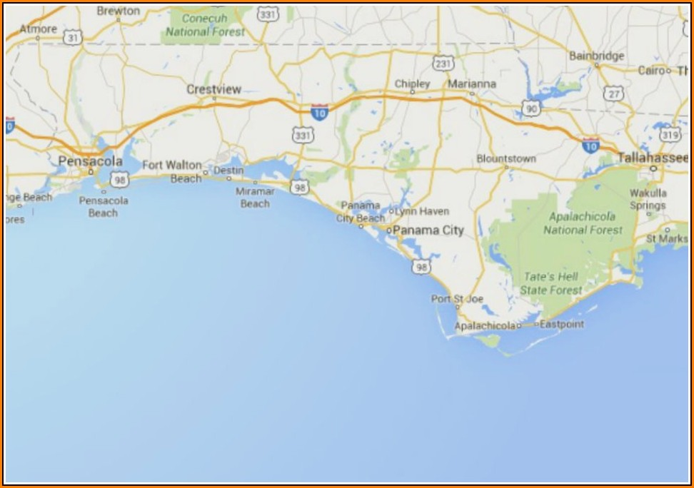 Maps Of Florida Panhandle Beaches
