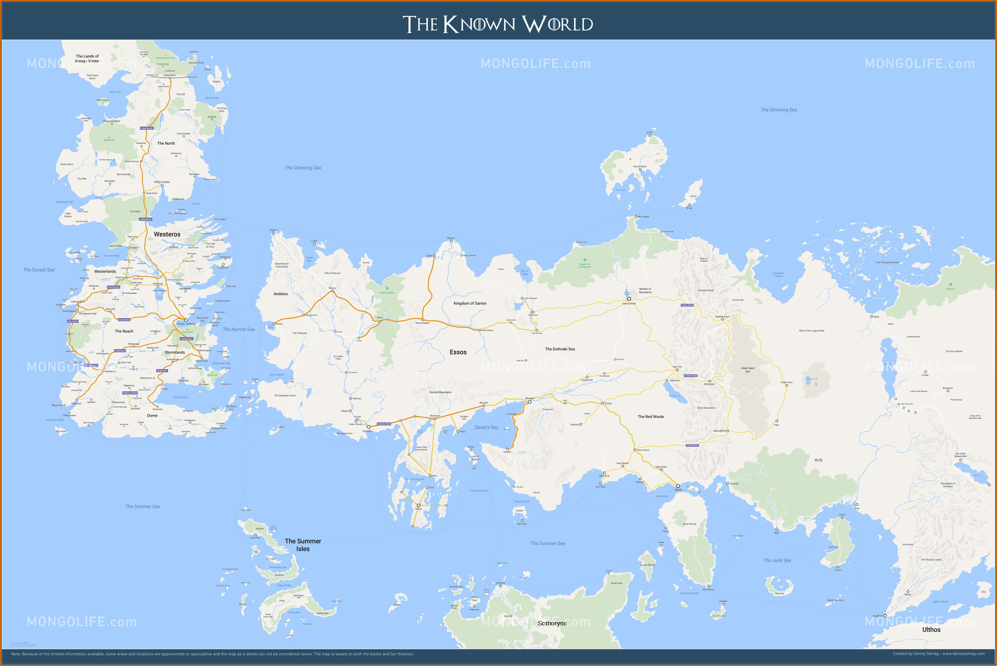 Maps Of Game Of Thrones