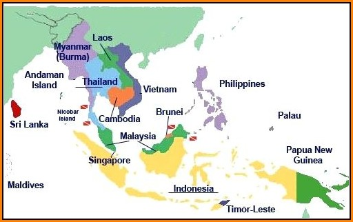 Maps Of Southeast Asian Countries