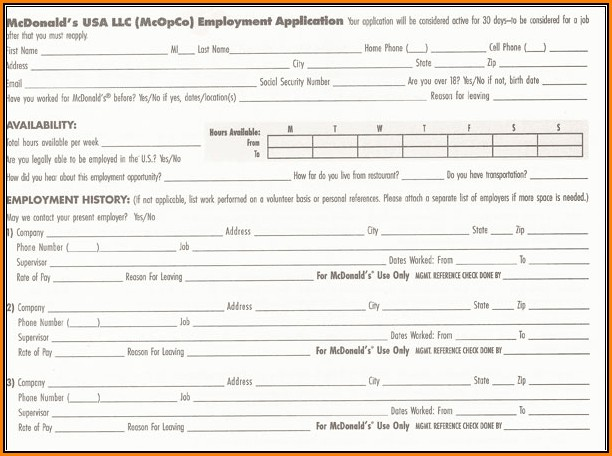 Mcdonalds Online Job Application Canada