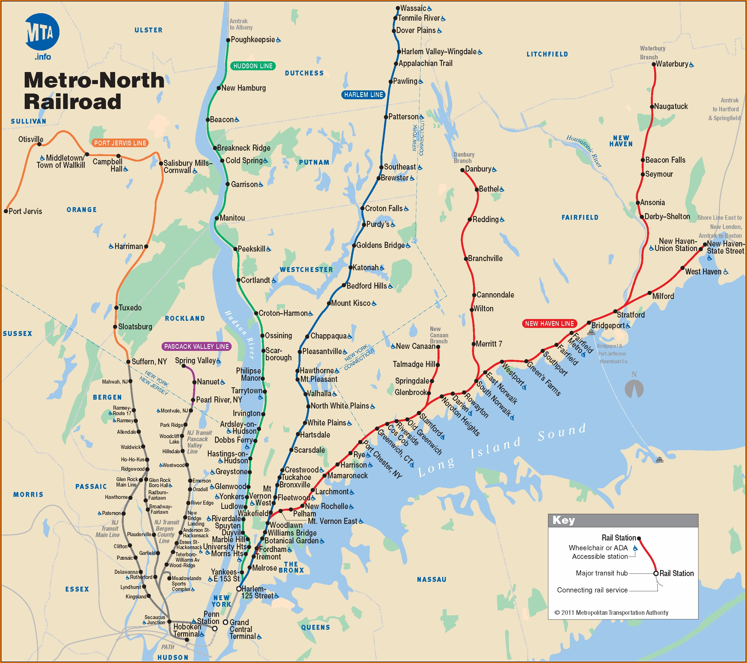 Metro Train Map Nyc
