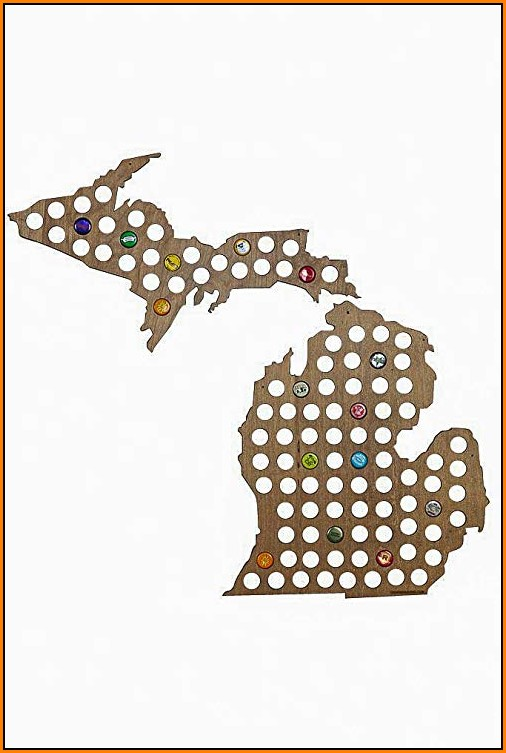 Michigan Beer Cap Map