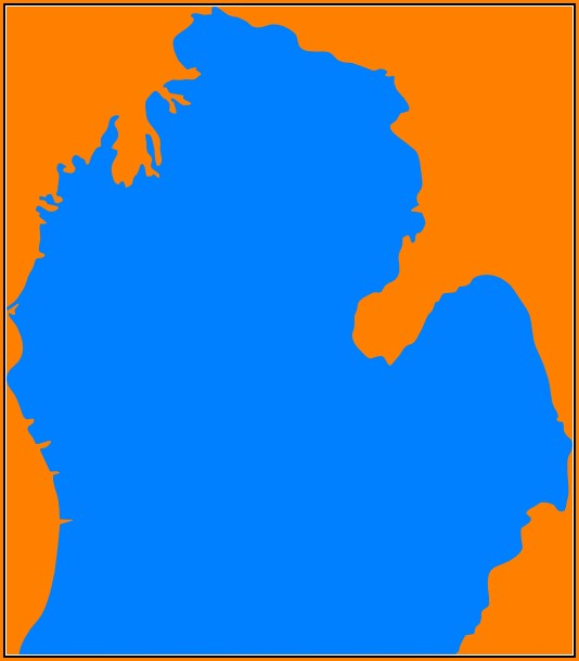 Michigan Mitten Map