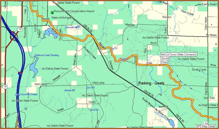 Michigan Snowmobile Trail Maps Gps