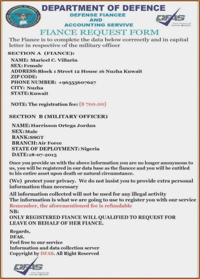 Military Fiance Form