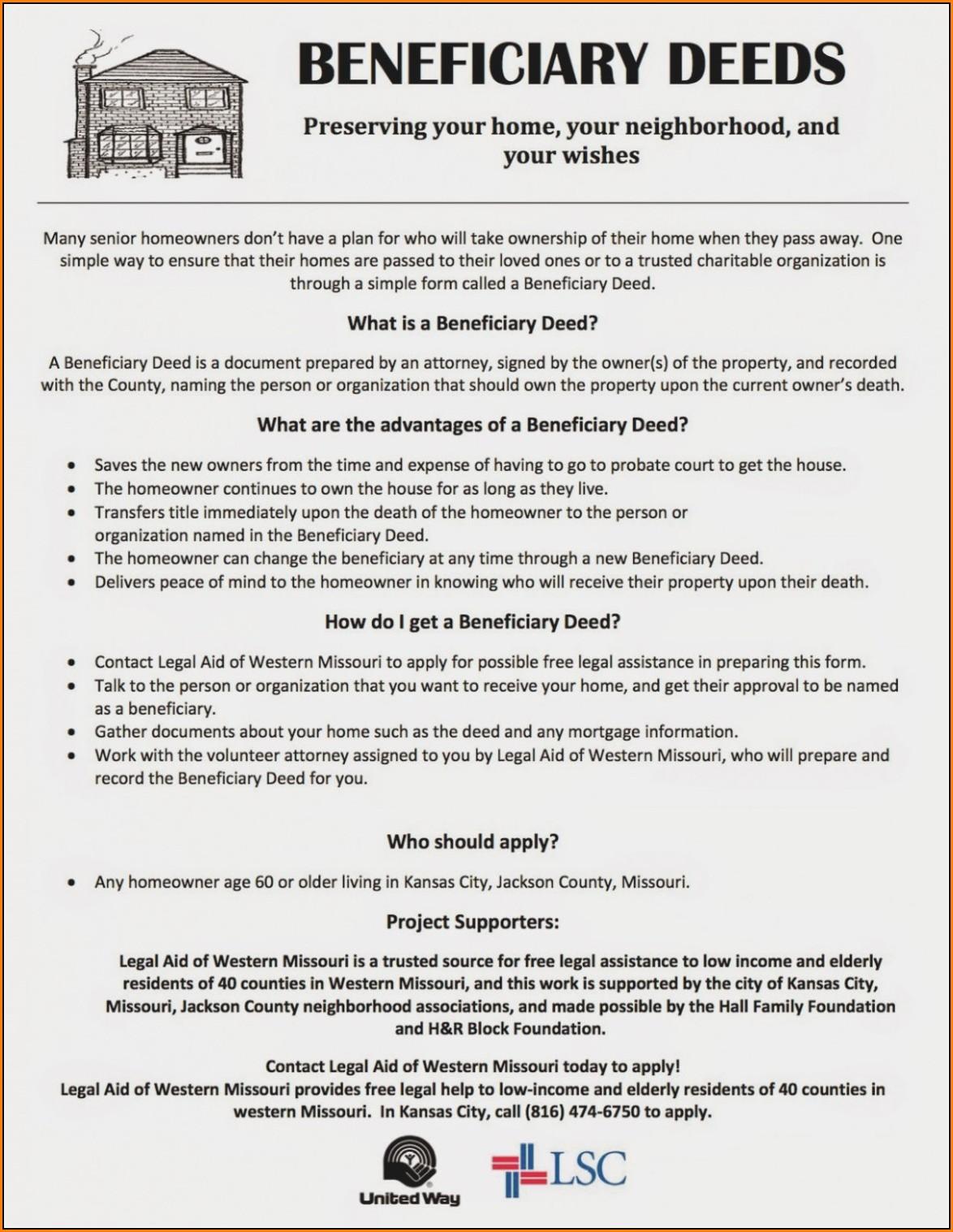 Missouri Beneficiary Deed Form