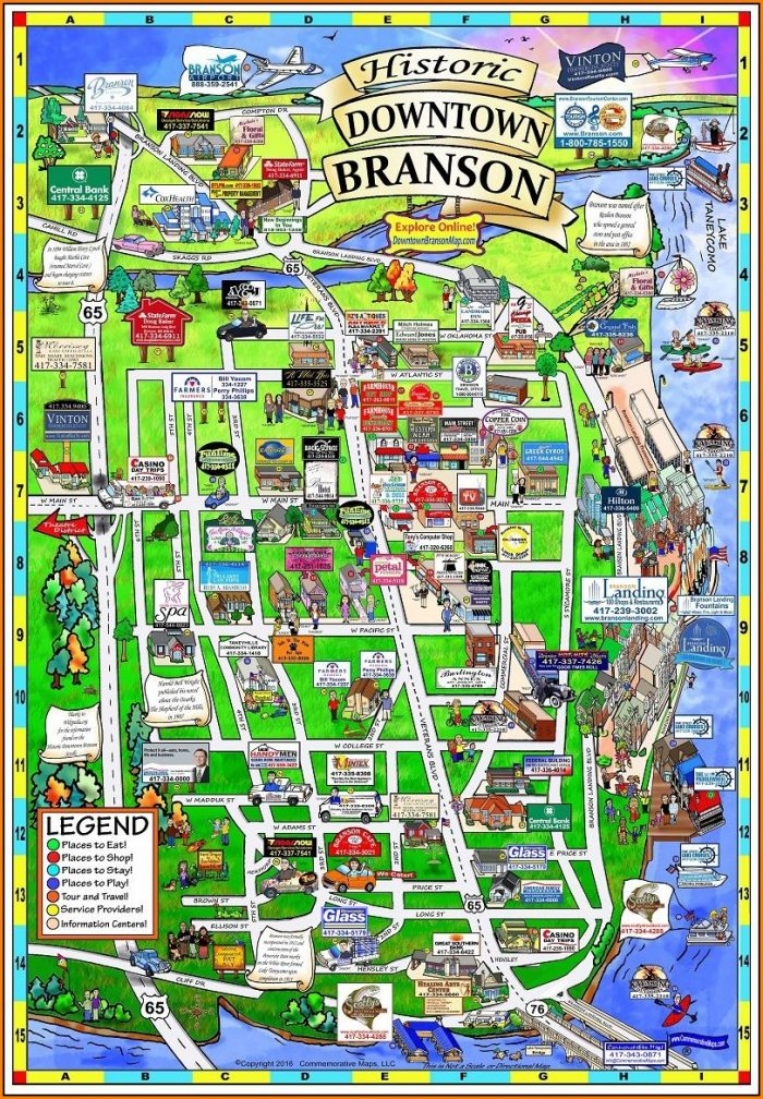 Missouri Map Branson