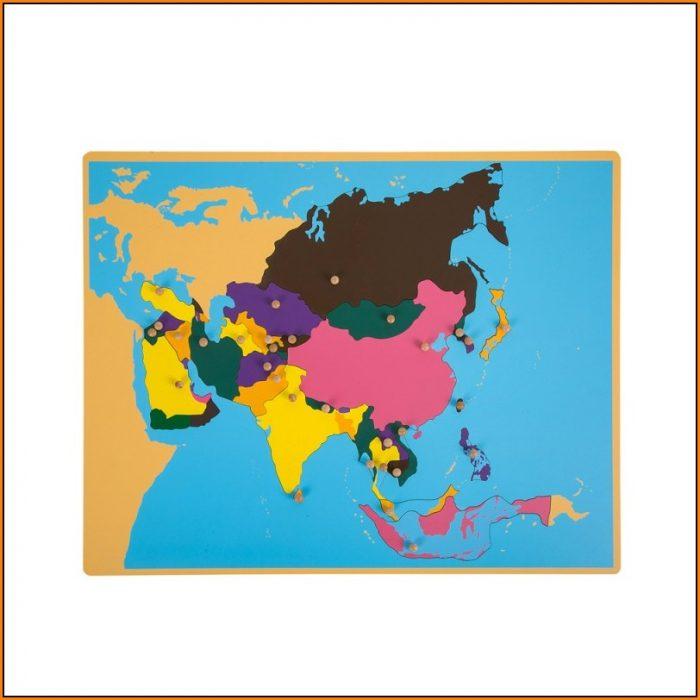 Montessori Asia Puzzle Map