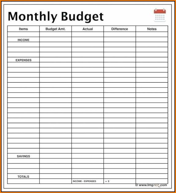 Monthly Income And Expense Report Template - Template 2 ...