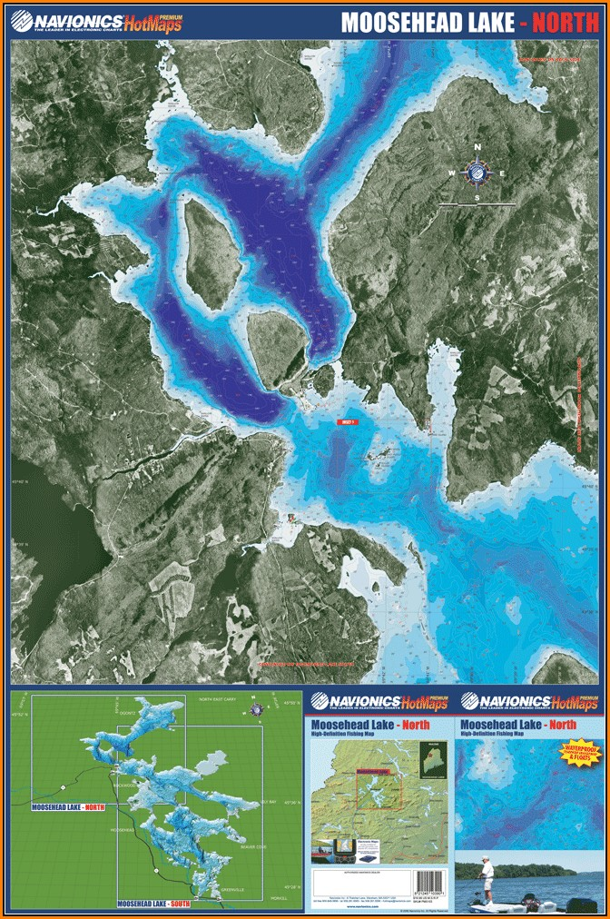 Moosehead Lake Depth Map