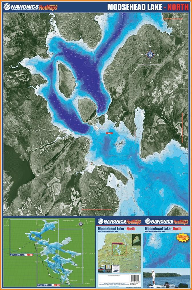 Moosehead Lake Depth Map