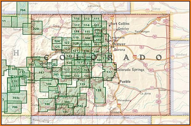 National Geographic Maps Colorado