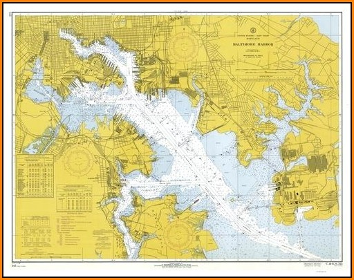 Nautical Map Of Chesapeake Bay