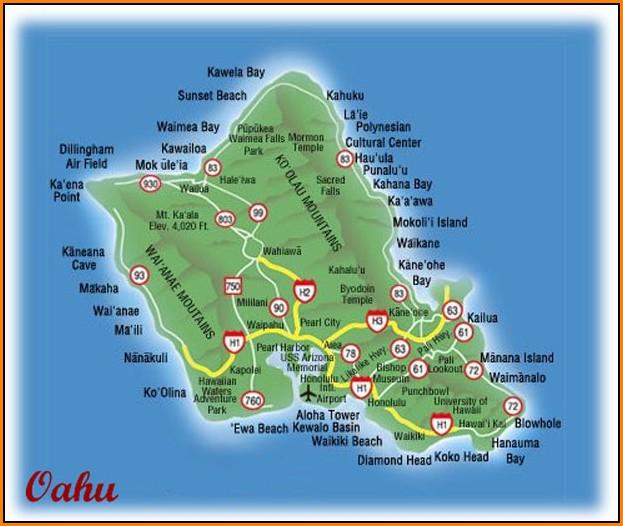 Oahu Activities Map