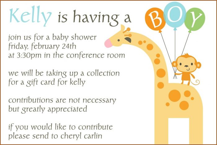 Office Baby Shower Invitation Template