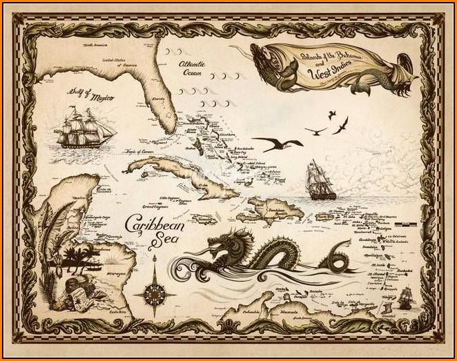 Old World Nautical Maps