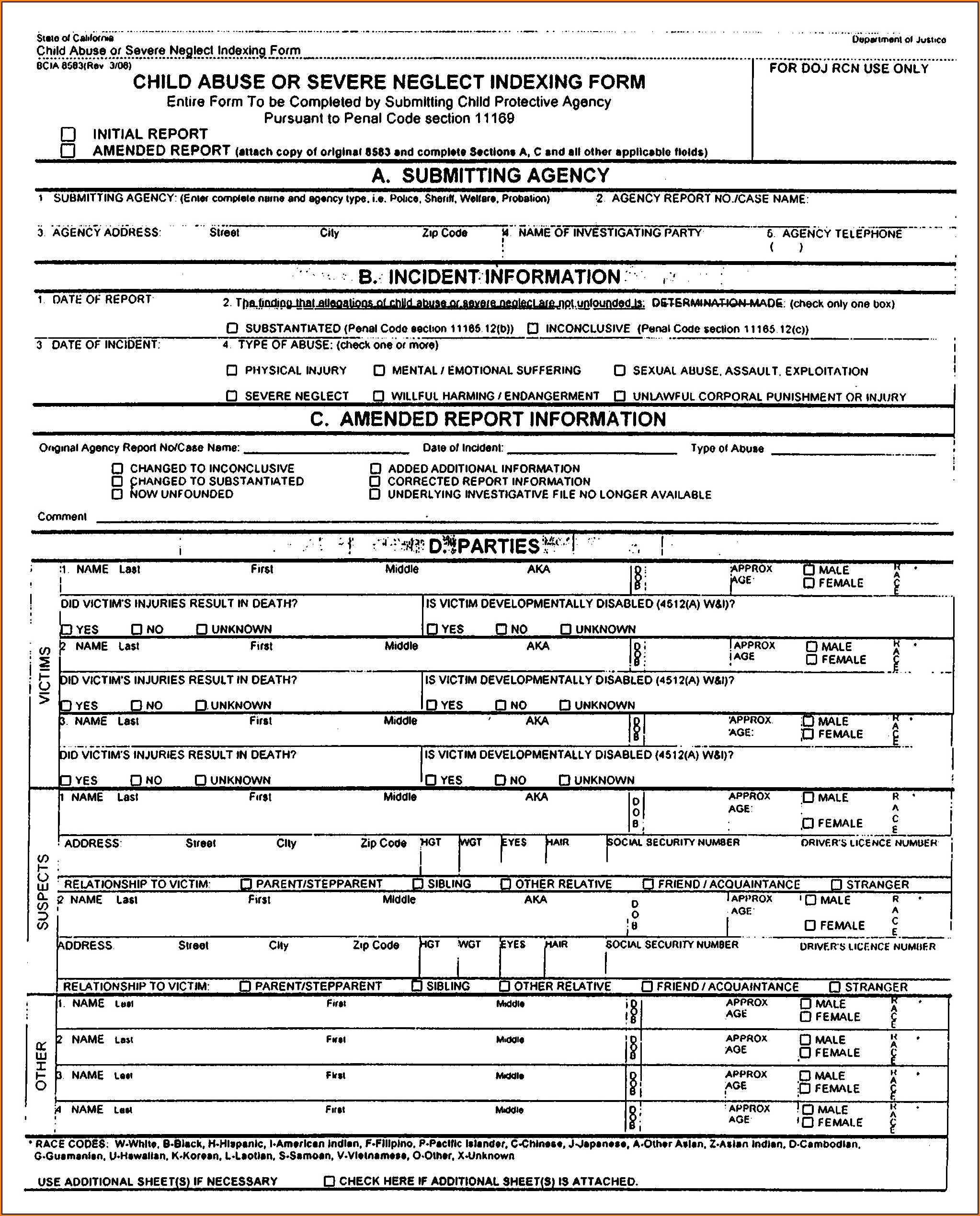 Osha Incident Report Form 301