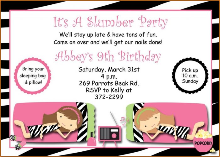 Pajama Party Invitation Templates Free