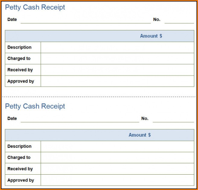 Petty Cash Invoice Template