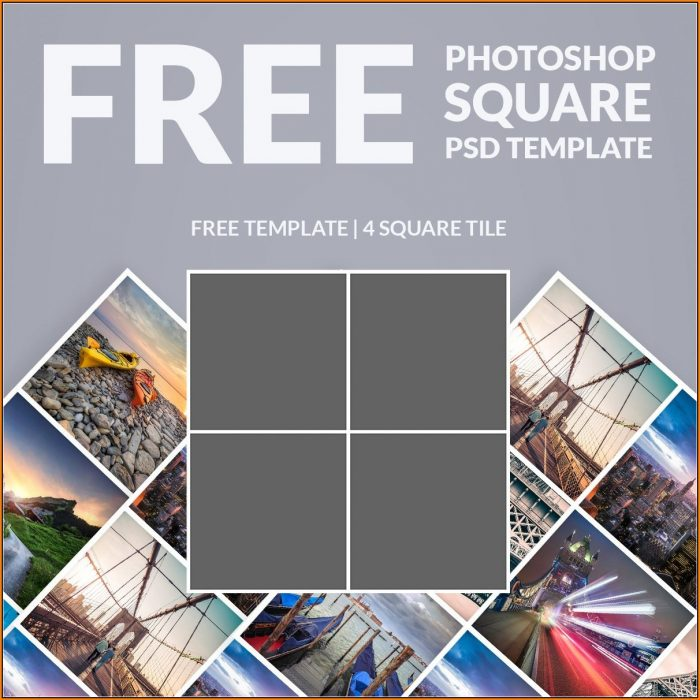 Photo Collage Template Photoshop Free