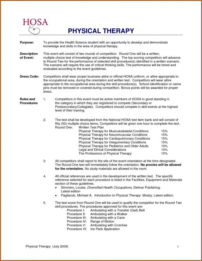 Physical Therapist Job Application
