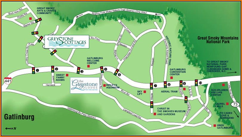 Pigeon Forge Hotel Map