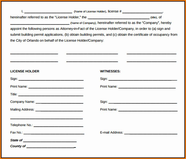 Power Of Attorney Forms Free Download