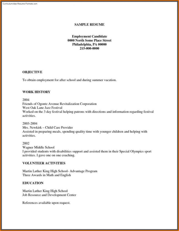 Printable Downloadable Resume Templates