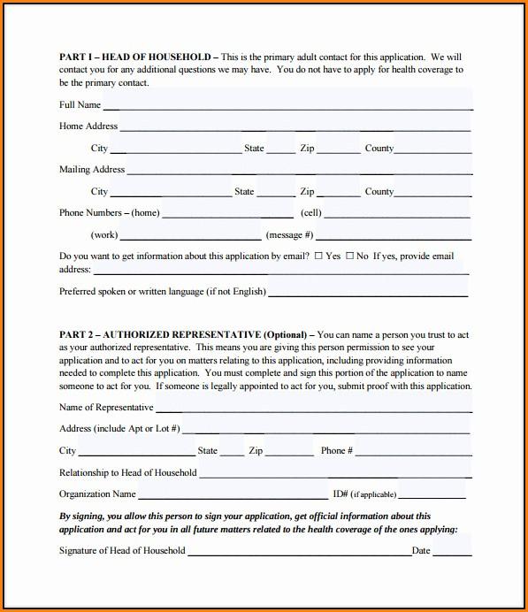 Printable Medicare Application Form