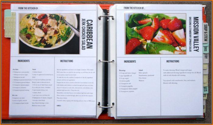 recipe cookbook templates free download