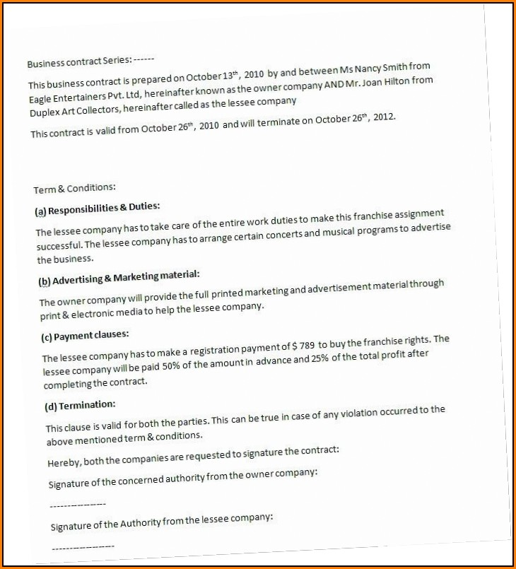 Residential Cleaning Contract Template