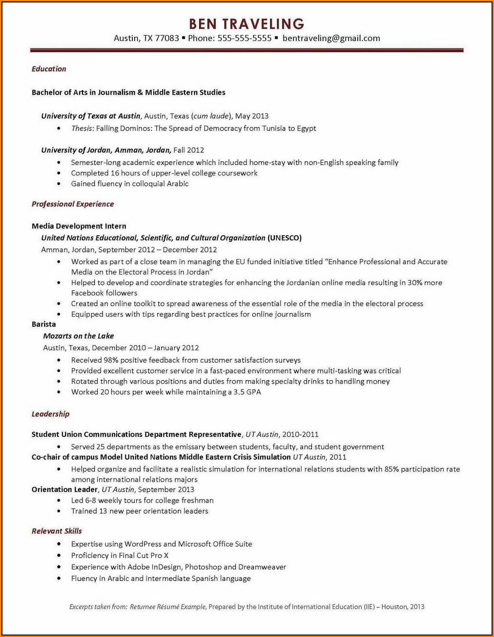 Resume Builder Free Printable No Account Examples