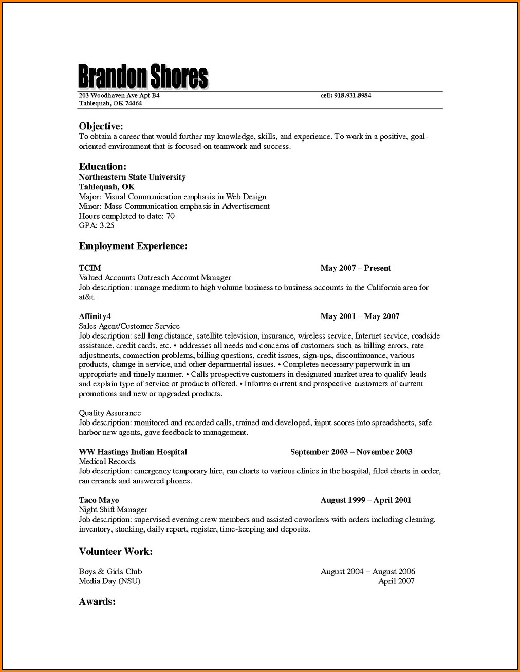 Resume For Life Insurance Agent
