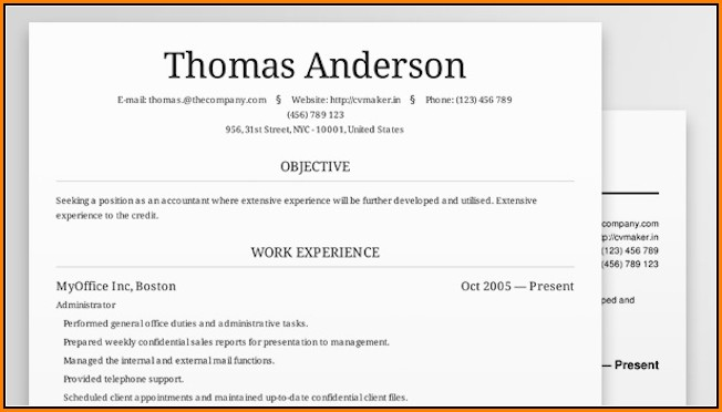 Resume Maker For Free Online