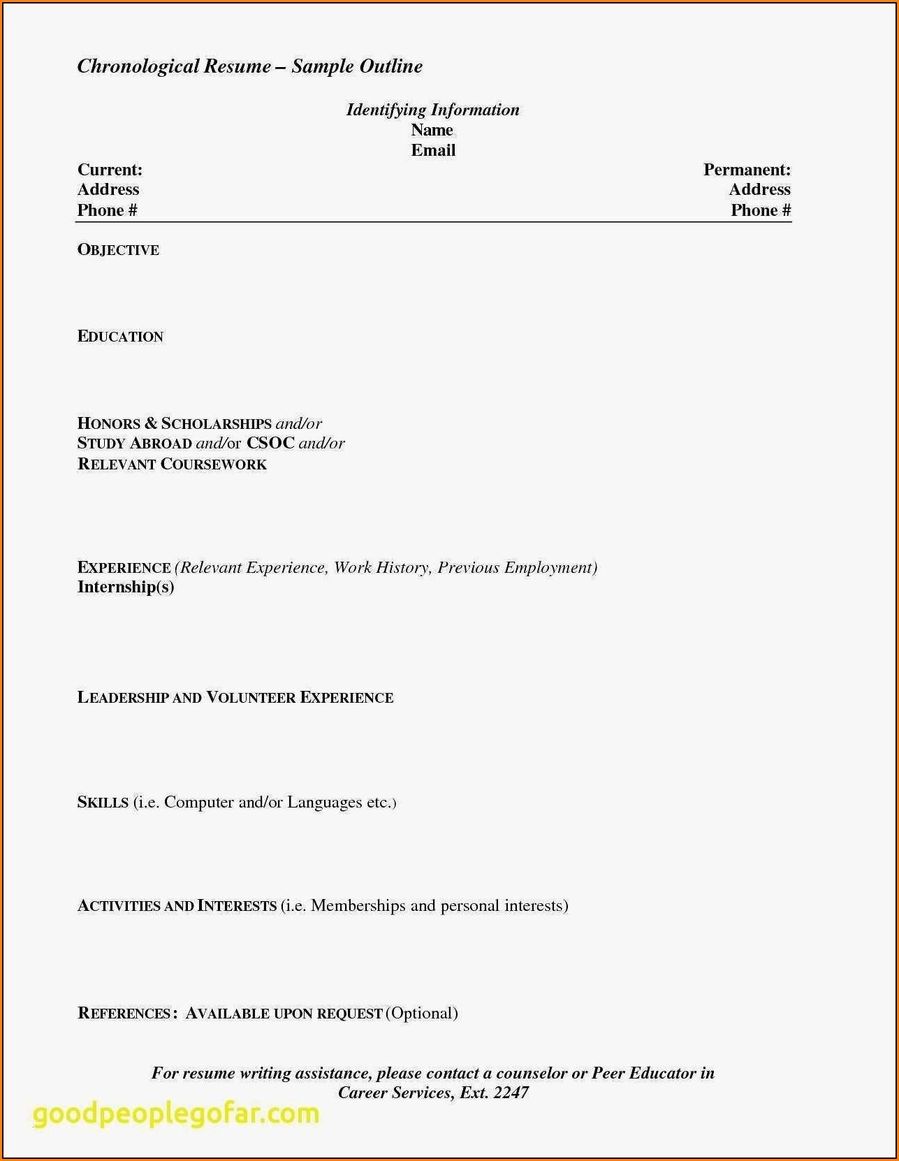 Resume Maker For Highschool Students