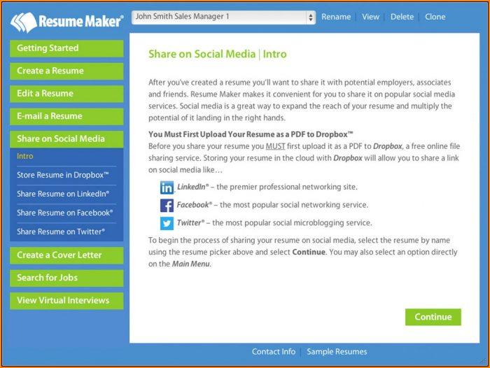 Resume Maker Software