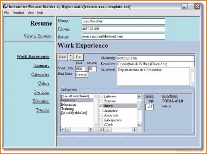 Resume Maker Software Free