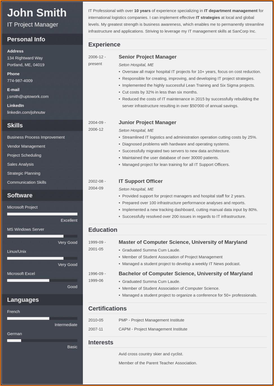 Resume Template Builder Online
