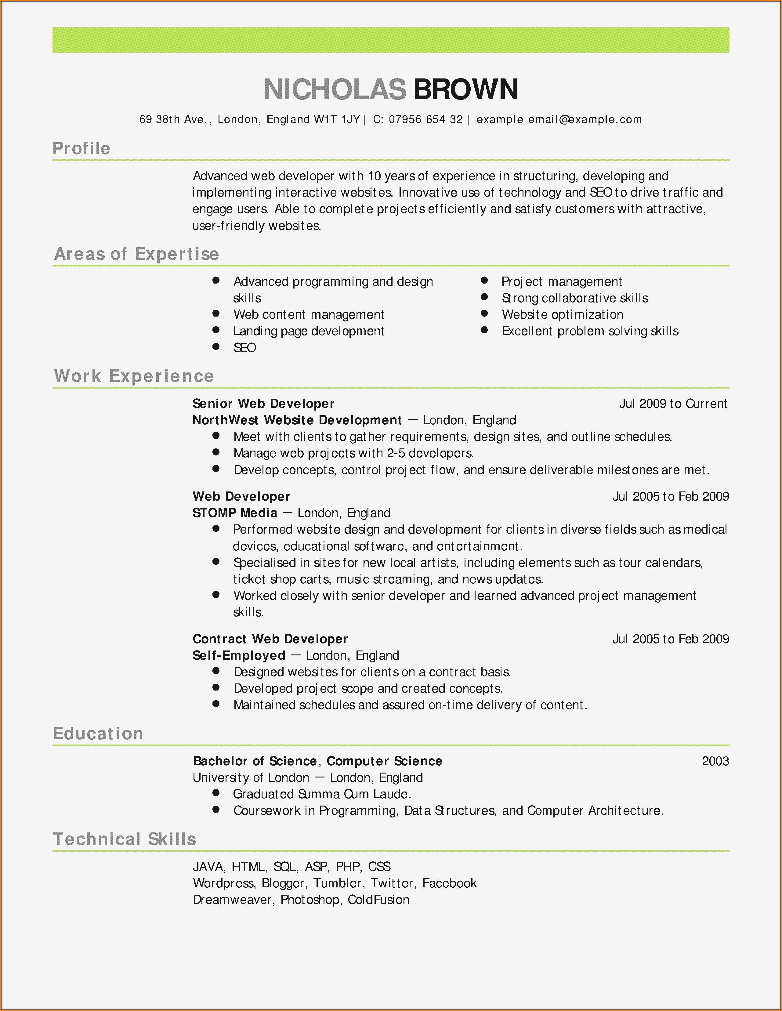 Resume Template Builder Software