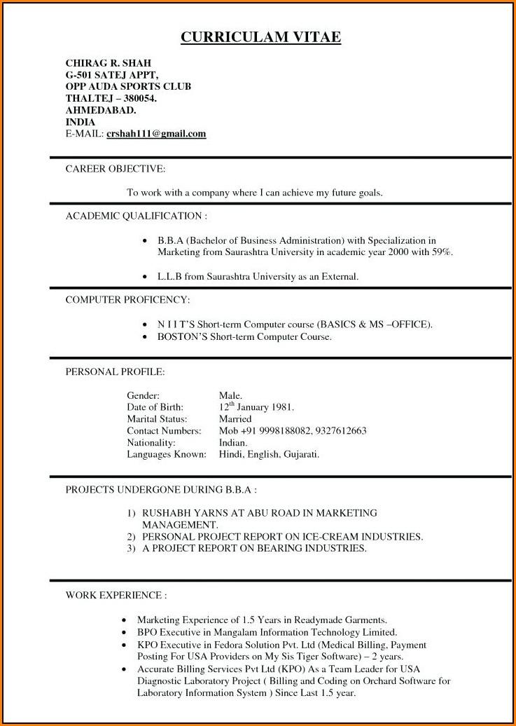 Resume Template Usa