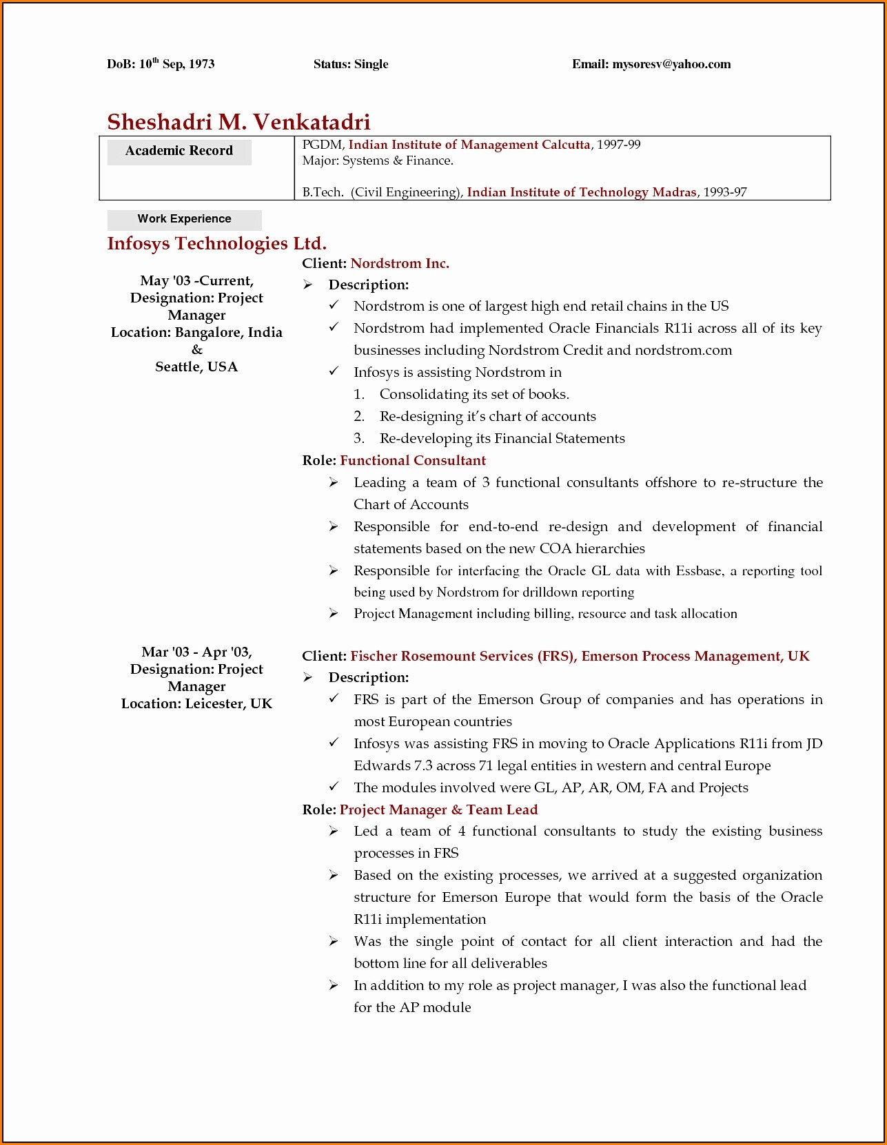 Resume Templates For Nurses